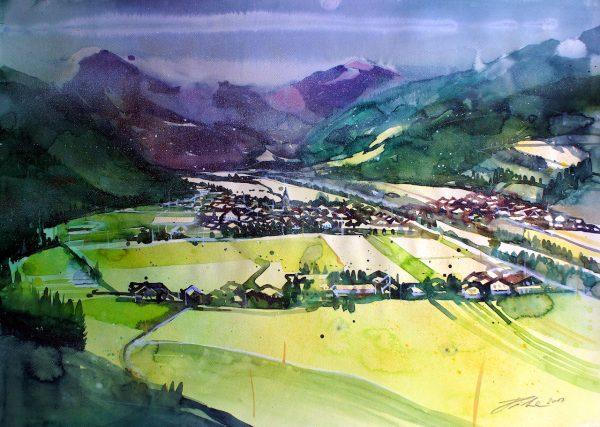 Tirol, Blick auf Kirchdorf  (Nr. 17156)