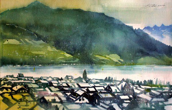 Salzburger Pinzgau, Zell am See mit Hahneckkogel (Nr. 17161)