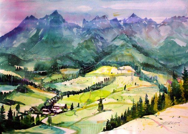 Salzburger Pinzgau, Landschaft bei Maria Alm-Hintertal  (Nr. 17164)