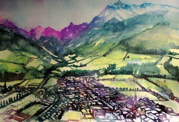 Pinzgau. Mittersill mit Pihapper (Nr. 17169)
