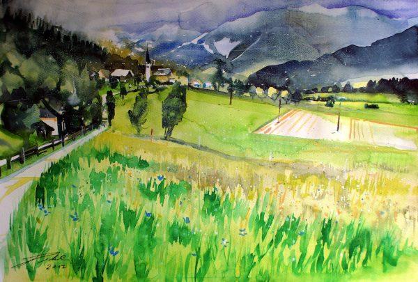 Pinzgau, Landschaft bei Gerling (Nr. 17171)