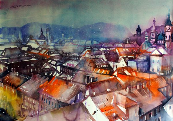 Graz, Dachlandschaft  (Nr. 17180)