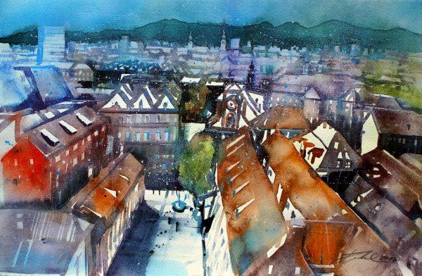 Graz, Blick zum Museumsviertel (Nr. 17181)