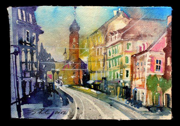 Graz, Blick von der Annenstrasse zur Franziskanerkirche (Nr. 17186)