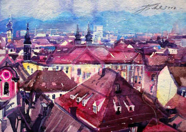 Graz, Dachlandschaft  (Nr. 17193)