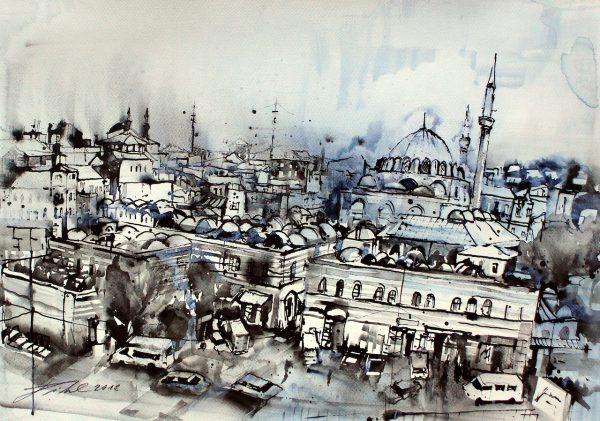 Türkei, Istanbul, Altstadt mit Rüstem Pascha Moschee  (Nr. 18079)