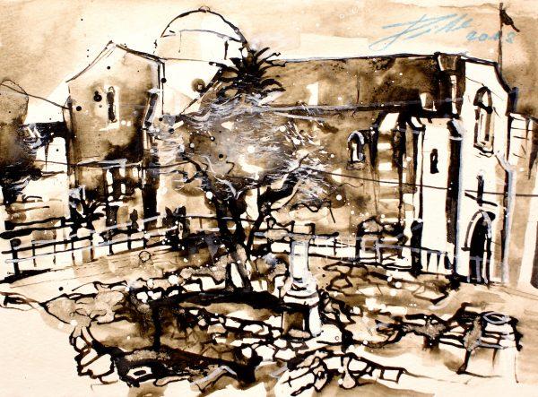 Israel, Jerusalem, Bethesta Teich mit Anna Kirche (Nr. 18082)