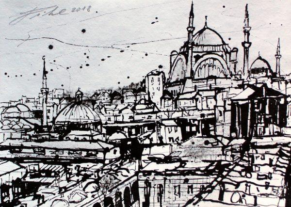 Türkei, Istanbul, Blick vom Valid Han zum großen Basar (Nr. 18096)