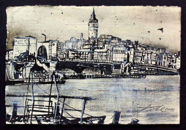 Türkei, Istanbul, Galata Brücke mit Galataturm (Nr. 18098)